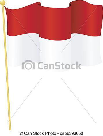 Bendera indonesia clipart clip art stock Vector of flag of Indonesia. vector - vector illustration of flag ... clip art stock