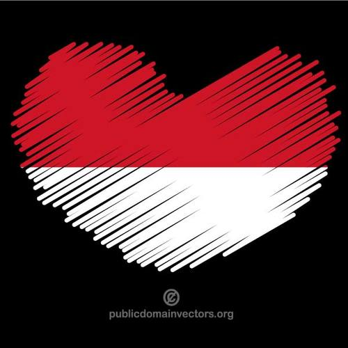 Bendera indonesia clipart graphic freeuse download I love Indonesia | Public domain vectors graphic freeuse download