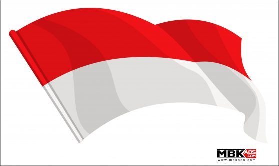 Bendera indonesia clipart svg stock Bendera indonesia vector free download svg stock