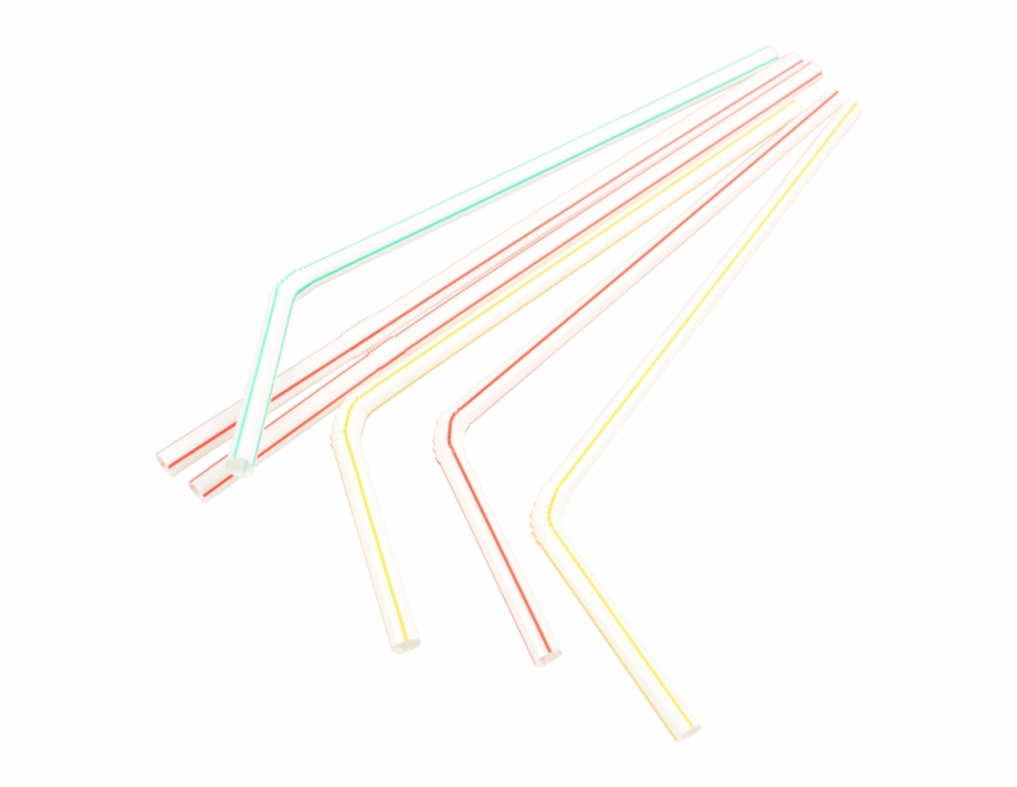 Bendy straw clipart png black and white stock Drinking Straw, Bendy, Pp, 210mm, Assorted - Carmine Free PNG Images ... png black and white stock