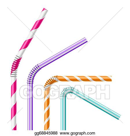 Bendy straw clipart clip art free Vector Clipart - Colorful drinking straws. Vector Illustration ... clip art free