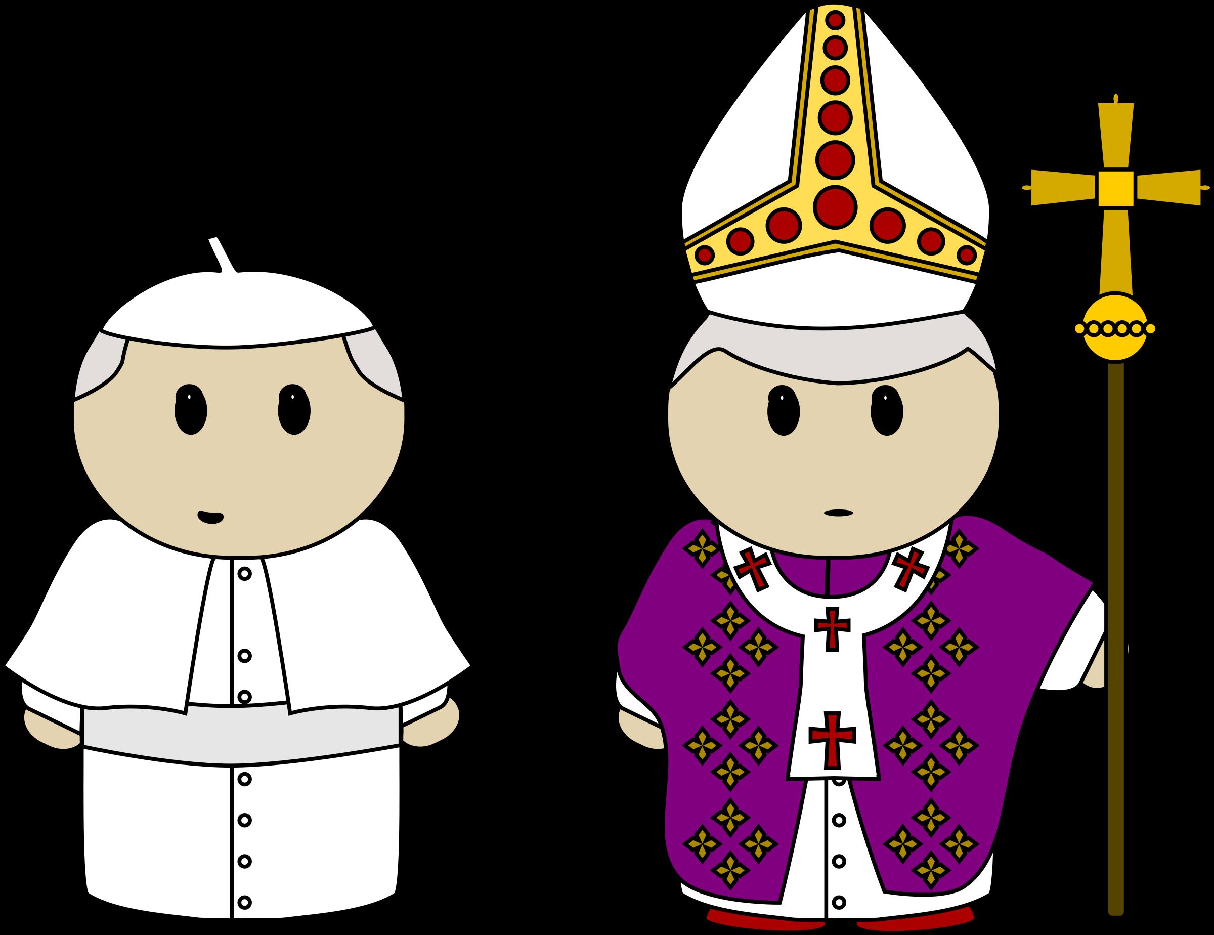 Benedictine cross clipart banner royalty free Clipart - Pope clothes banner royalty free