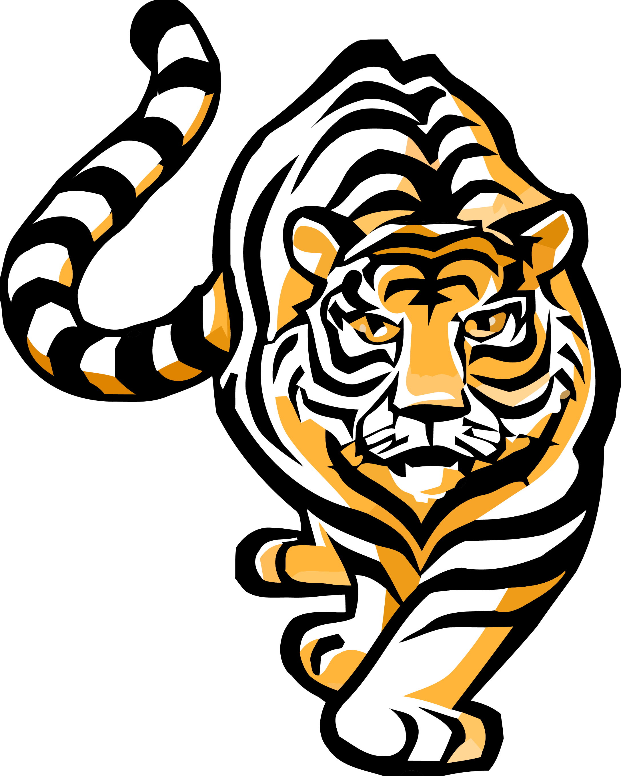 Bengal clipart vector royalty free download Tiger Bengal Clipart Transparent Png - AZPng vector royalty free download