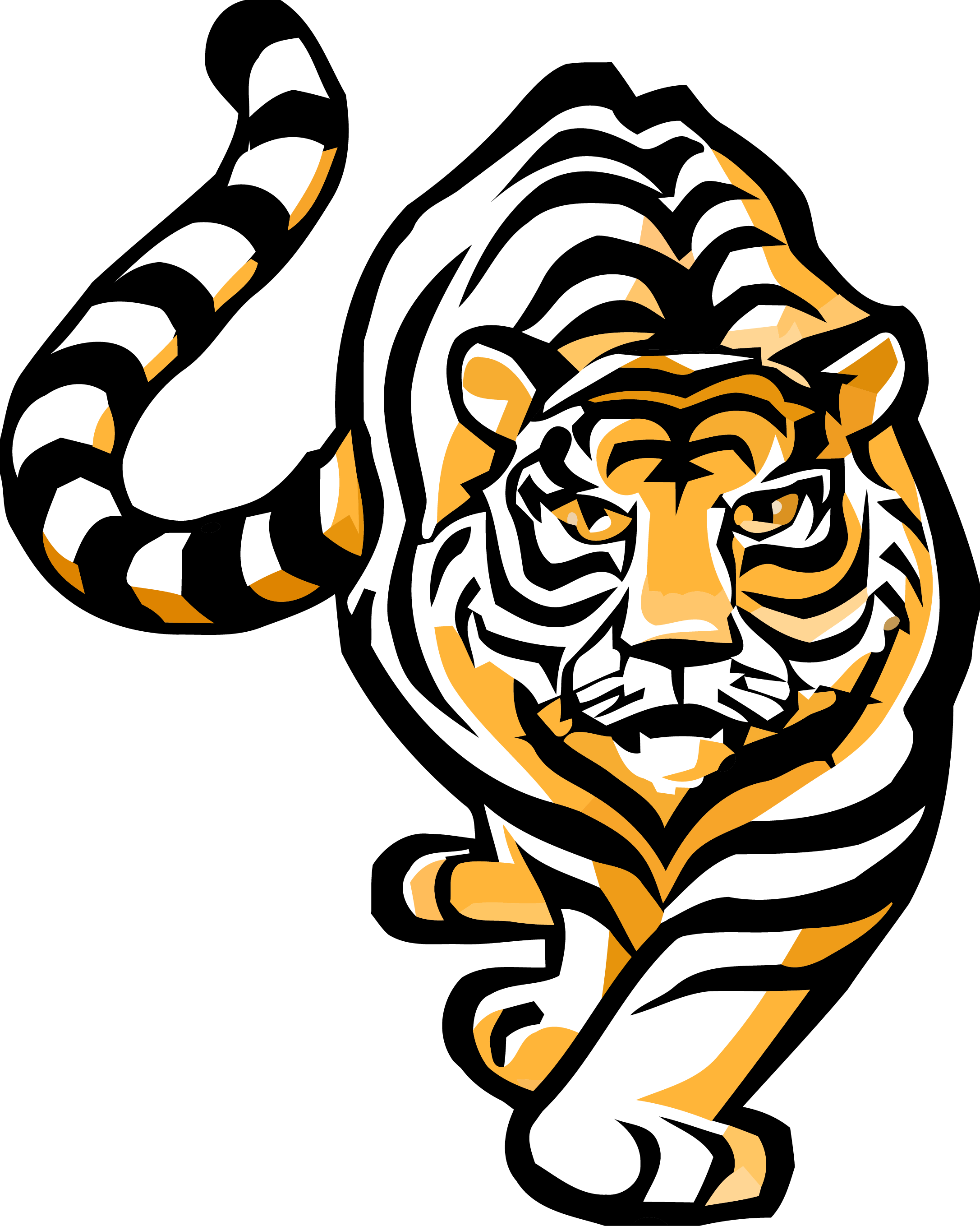 Bengal tiger clipart png library stock Bengal Tiger Clipart – Clipartly.com png library stock