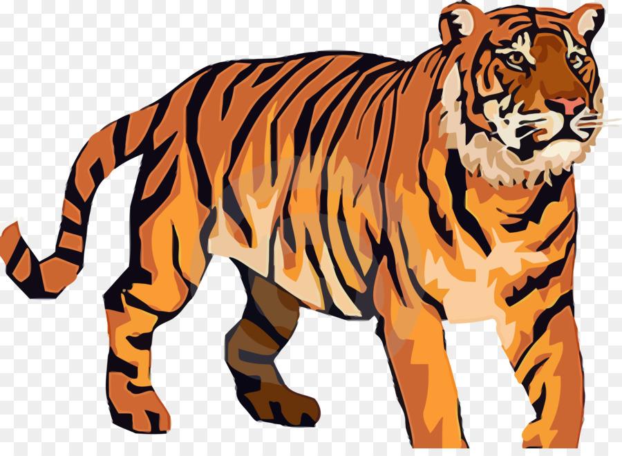 Bengal tiger clipart transparent Tiger Cartoon clipart - Tiger, Wildlife, Pattern, transparent clip art transparent