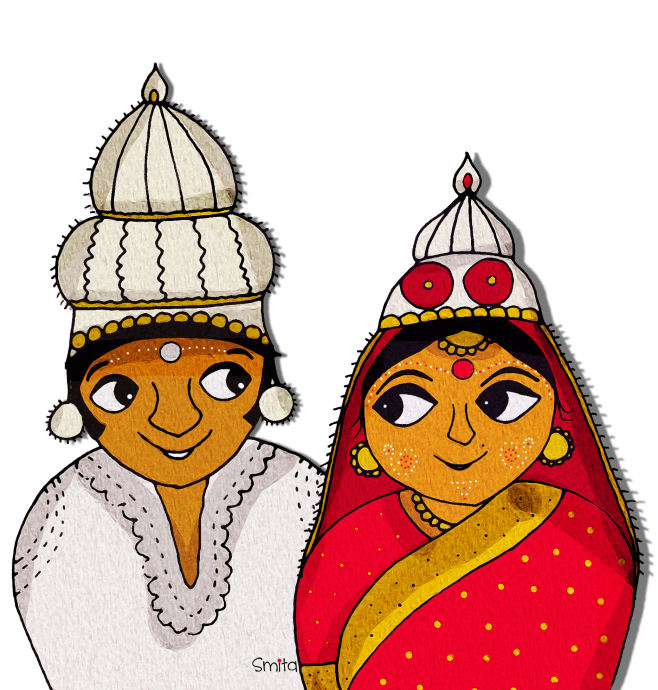 Bengali clipart clipart black and white Bengali wedding cards clipart 13 » Clipart Station clipart black and white