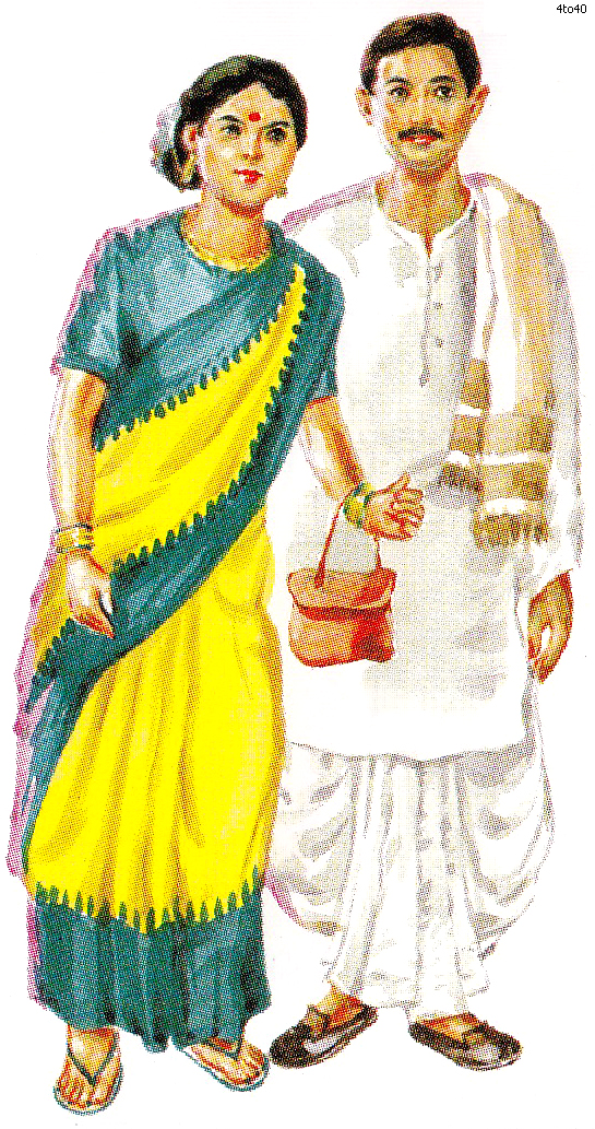 Bengali traditional dress clipart banner black and white stock Bengali traditional dress clipart - ClipartFest banner black and white stock