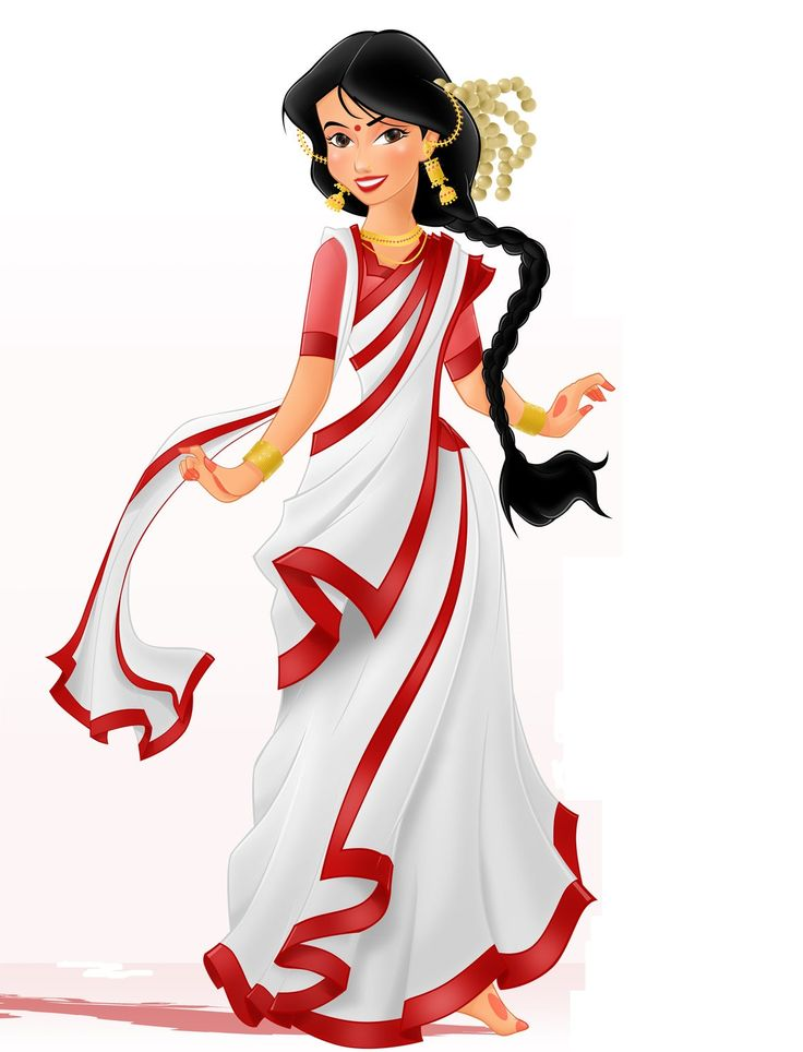 Bengali traditional dress clipart svg black and white stock 17 Best images about The Bengali Look on Pinterest | Brides, India ... svg black and white stock