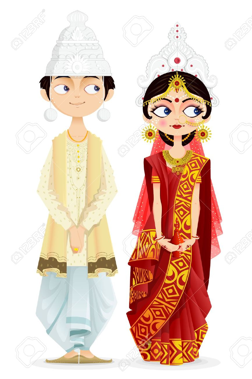 Bengali traditional dress clipart clipart Bengali traditional dress clipart - ClipartFest clipart