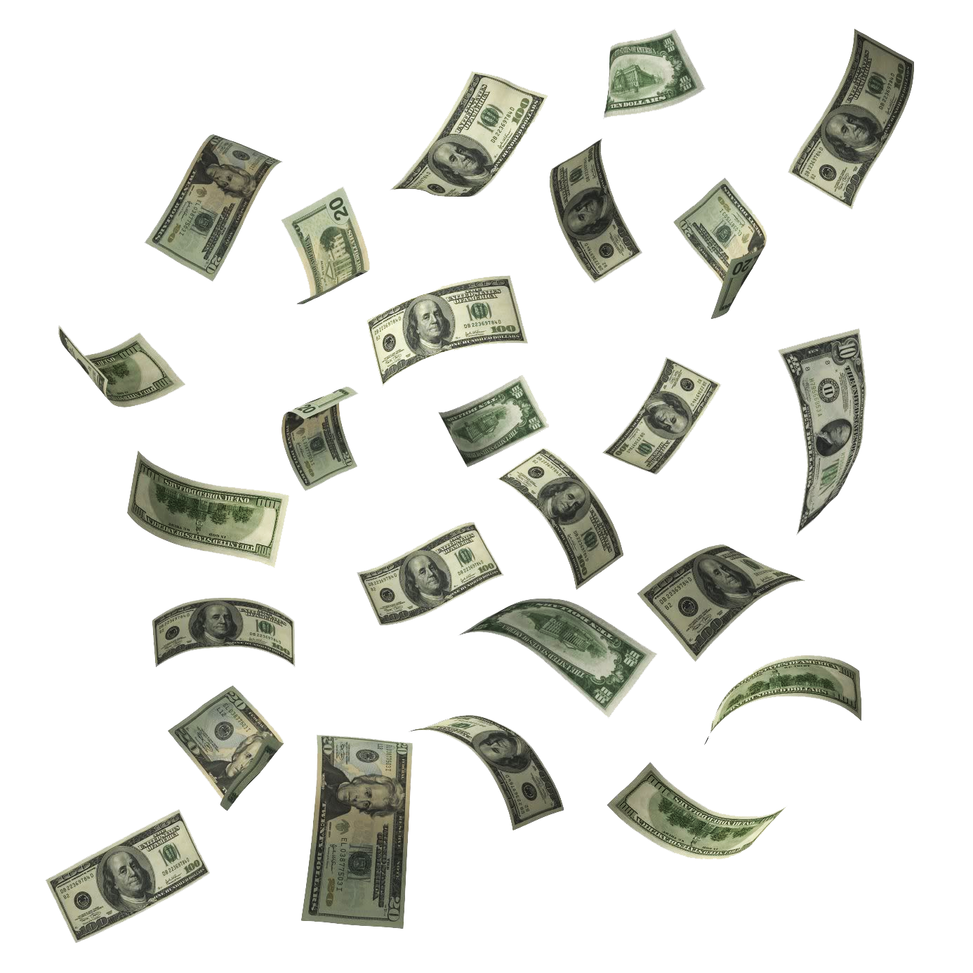 Make it rain money clipart