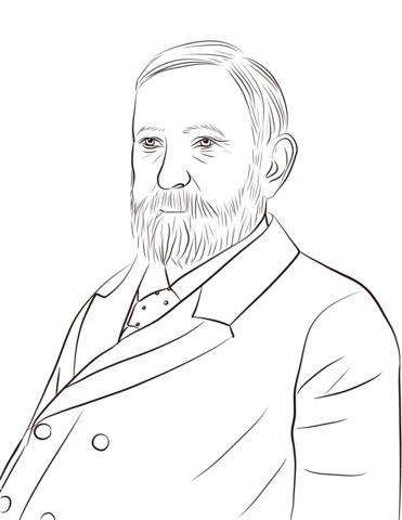 Benjamin harrison clipart vector download Benjamin Harrison coloring page   Free Printable Coloring Pages vector download