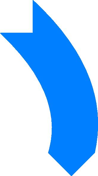 Bent arrow clip art image Blue Curved Arrow Clip Art at Clker.com - vector clip art online ... image
