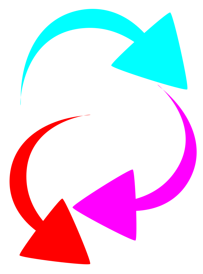 Bent arrow clip art royalty free stock Clipart - curved color arrows royalty free stock