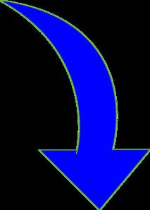 Bent arrow clip art image library download Curved-arrow-bright-blue Clip Art at Clker.com - vector clip art ... image library download