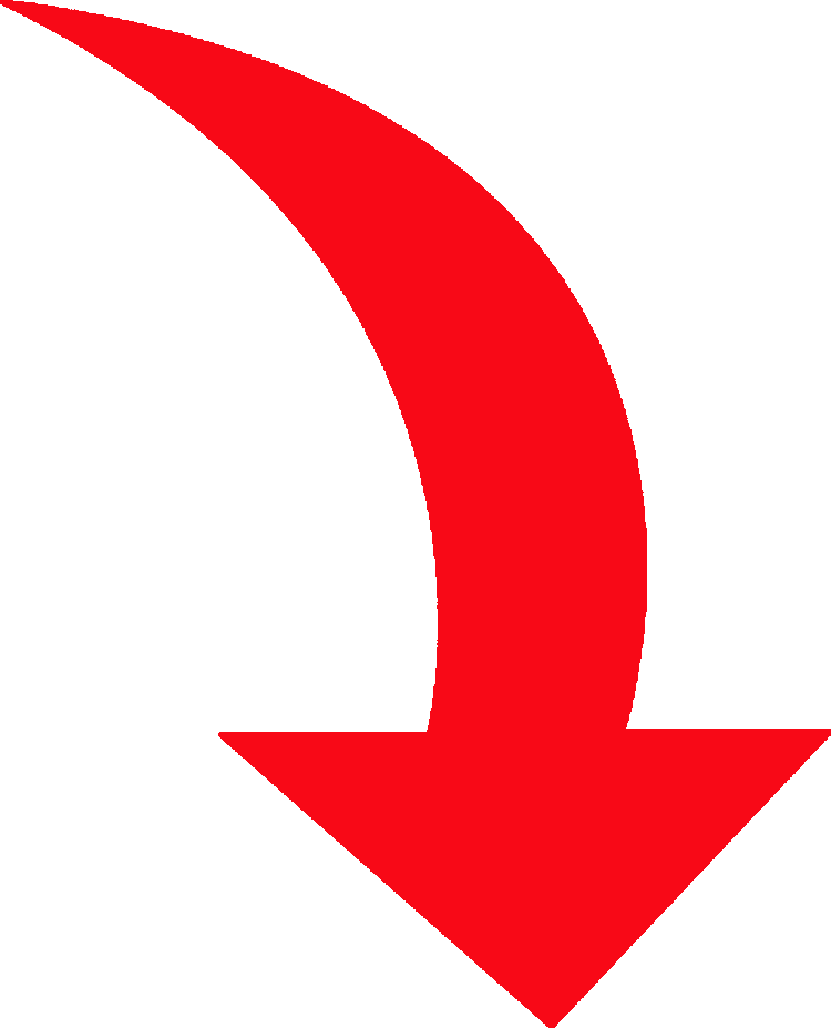 Red image group curved. Bent arrow clip art