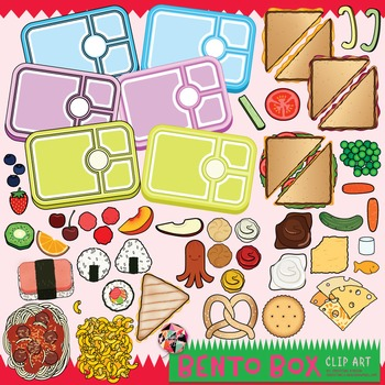 Bento box clipart graphic freeuse library Build a Bento Box Clip Art / Food Clip Art graphic freeuse library