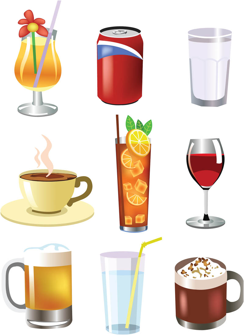 Drinks clipart images image black and white Free Beverages Cliparts, Download Free Clip Art, Free Clip Art on ... image black and white