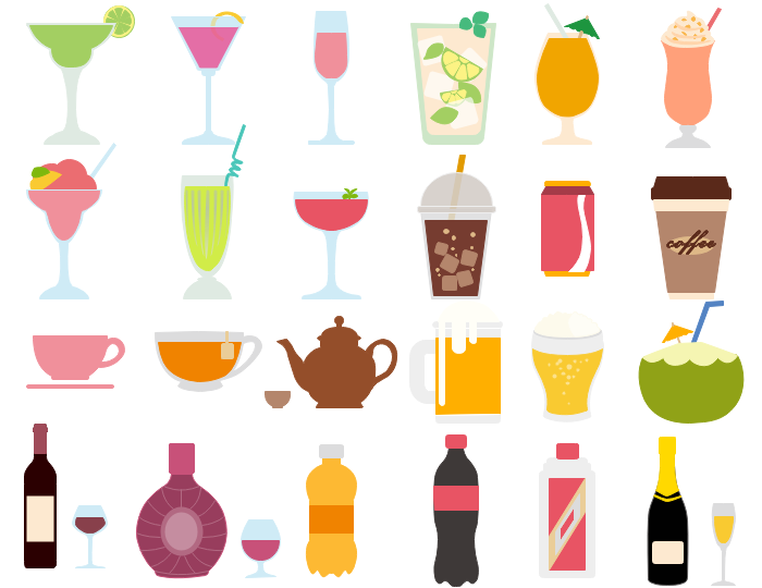 Drinks clipart images clipart black and white Best Vector Drink and Beverage Clipart - Free Download clipart black and white