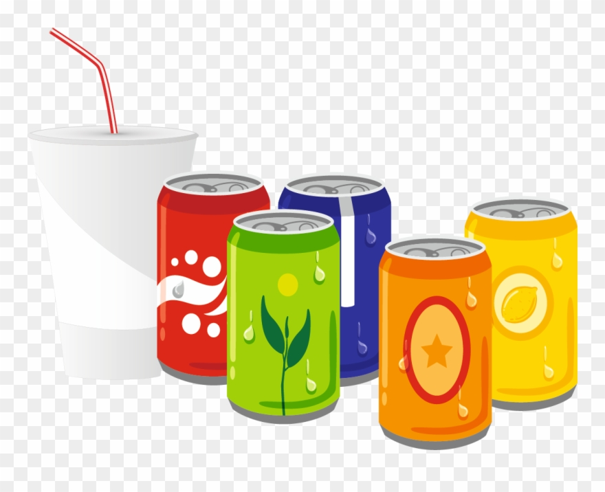Soda drinks clipart graphic black and white Beverage Clipart Soft Drink - Soft Drink Cartoon Png Transparent Png ... graphic black and white