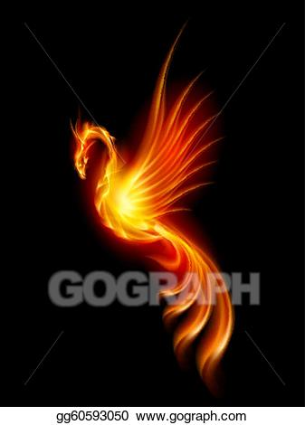 Berd on fire clipart picture royalty free stock Vector Art - Burning phoenix. EPS clipart gg60593050 - GoGraph picture royalty free stock
