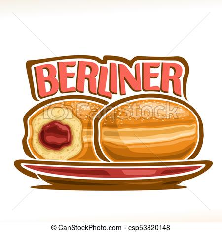 Berliner clipart clip black and white library Vector illustration of german Berliner clip black and white library