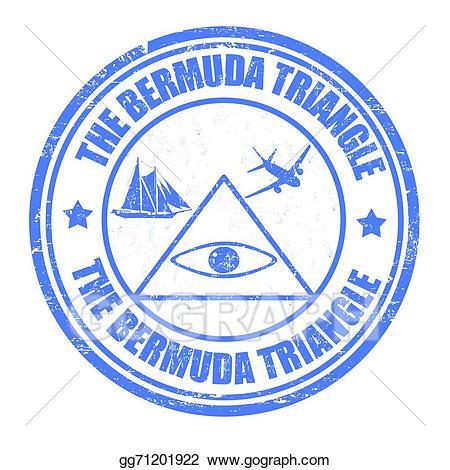 Bermuda triangle clipart svg Vector Art - The bermuda triangle stamp. Clipart Drawing gg71201922 ... svg