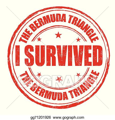 Bermuda triangle clipart clip freeuse download Clip Art Vector - I survived the bermuda triangle stamp. Stock EPS ... clip freeuse download