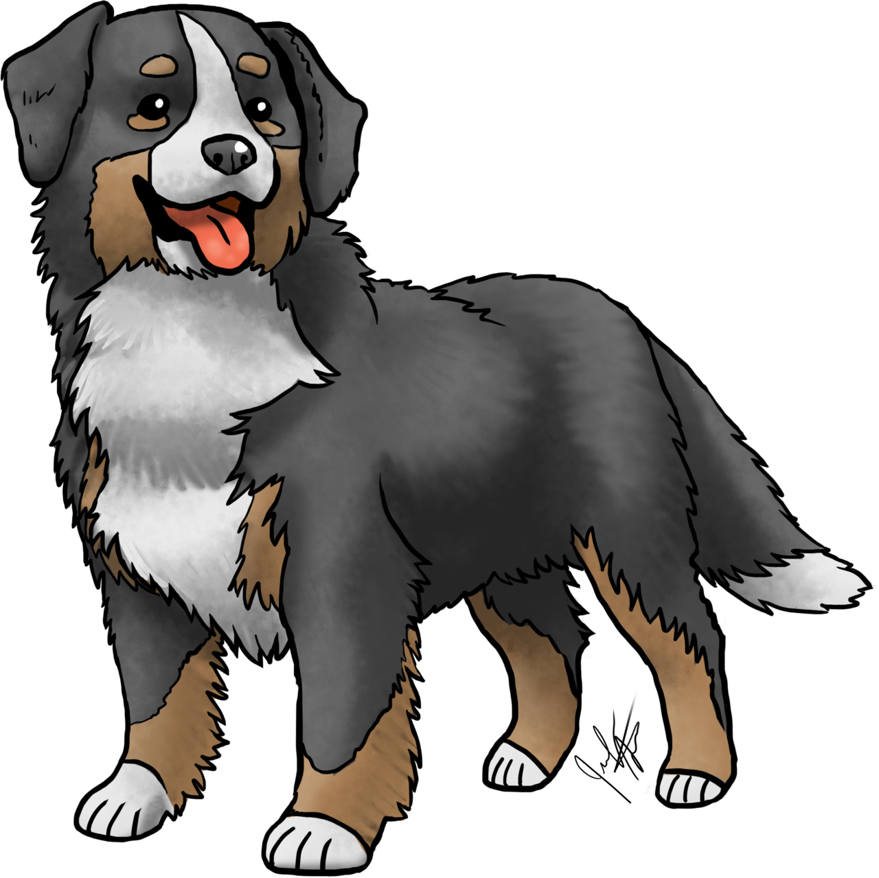 Bernese mountain dog clipart graphic library stock Jen's Dogs graphic library stock