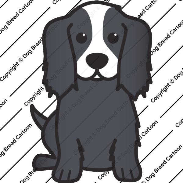 Bernese mountain dog clipart clipart transparent Cavalier King Charles Spaniel | Black Edition | Dog Breed Cartoon ... clipart transparent