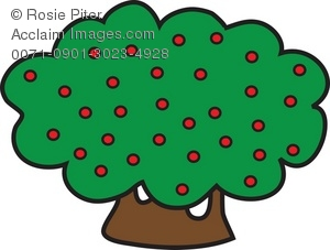 Berries on a bush clipart clip art stock Clip Art Illustration of Shrubbery With Berries clip art stock