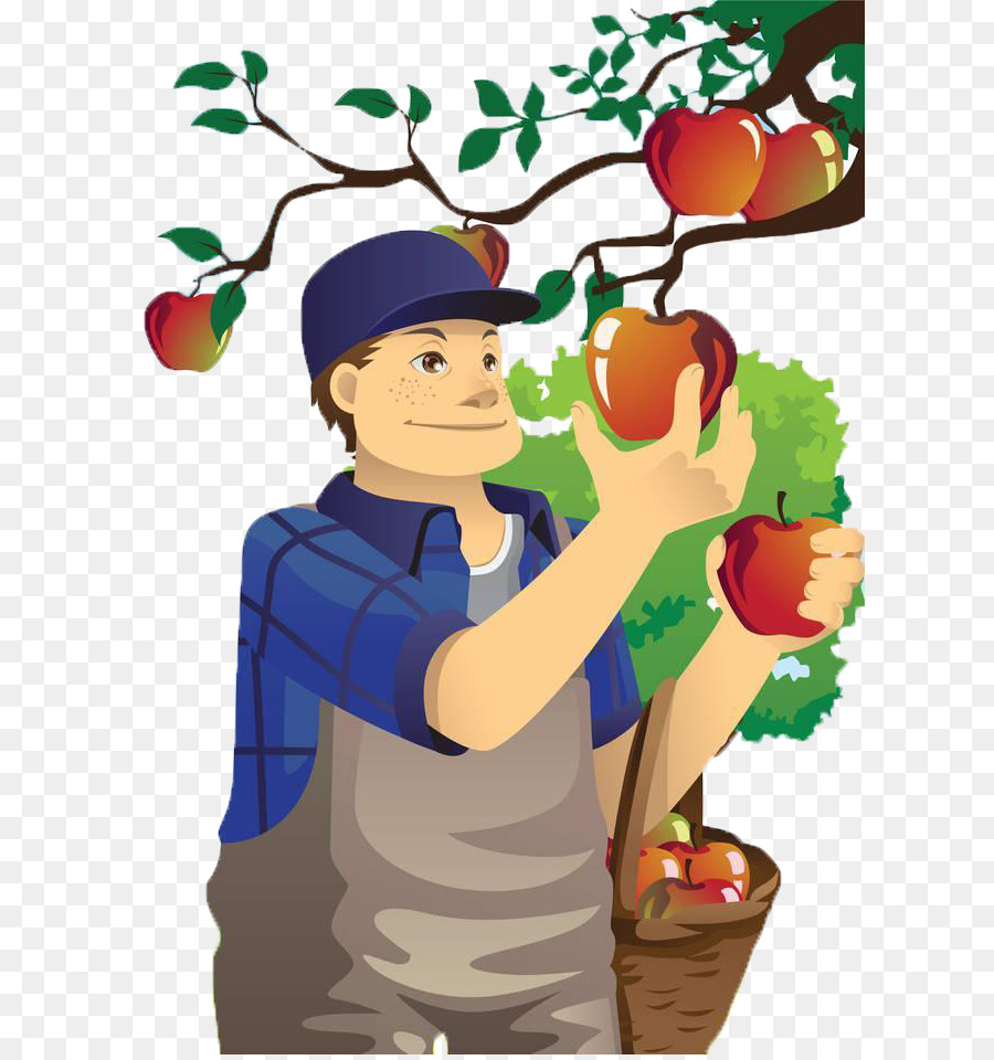 Village boy clipart banner download Fruit Picking Orchard Apple Farmer Clip #72839 - PNG Images - PNGio banner download