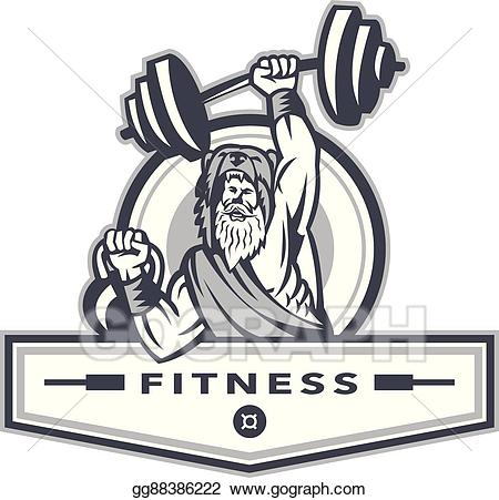 Berserker clipart clip royalty free download EPS Vector - Berserker lifting barbell kettlebell fitness circle ... clip royalty free download