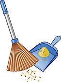 Dustpan brush clip art. Besen und schaufel clipart