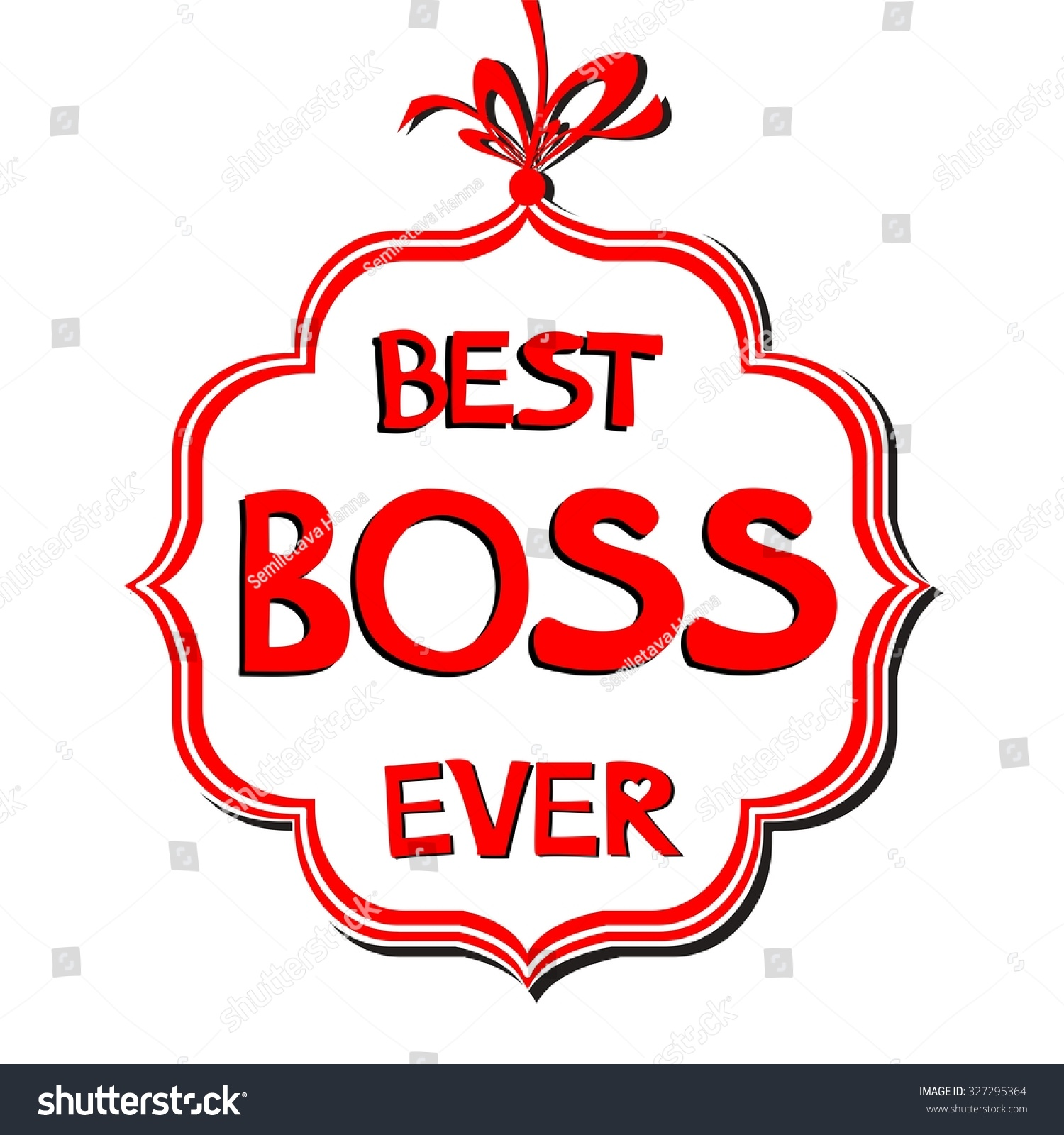 Best boss clipart svg black and white library Happy Boss\'S Day. Best Boss Ever. Illustration 327295364 - Free Clipart svg black and white library