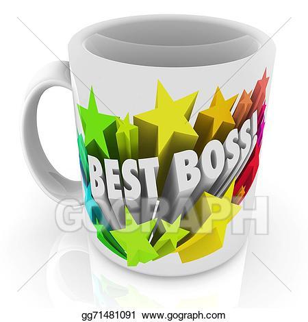 Best boss clipart clip art freeuse download Stock Illustration - Best boss coffee mug top leader manager ... clip art freeuse download