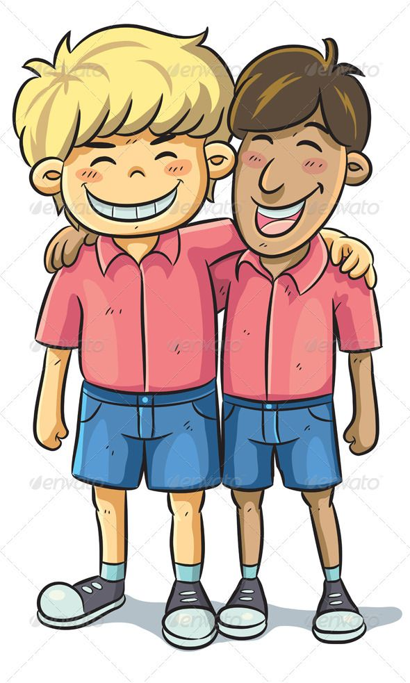 Best buddy clipart vector free stock Friendship #GraphicRiver cartoon illustration of friend relationship ... vector free stock
