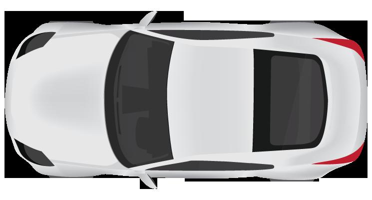 White car clipart top