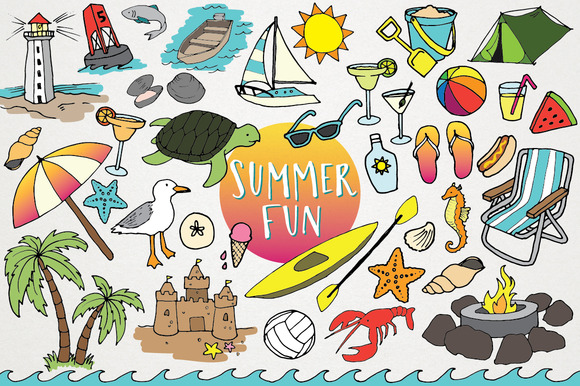 Clipart summer pictures jpg black and white library The Best Summer Clipart Deals For Designers jpg black and white library