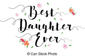 Best daughter clipart image black and white download Best daughter ever - comic book style word on comic book abstract ... image black and white download
