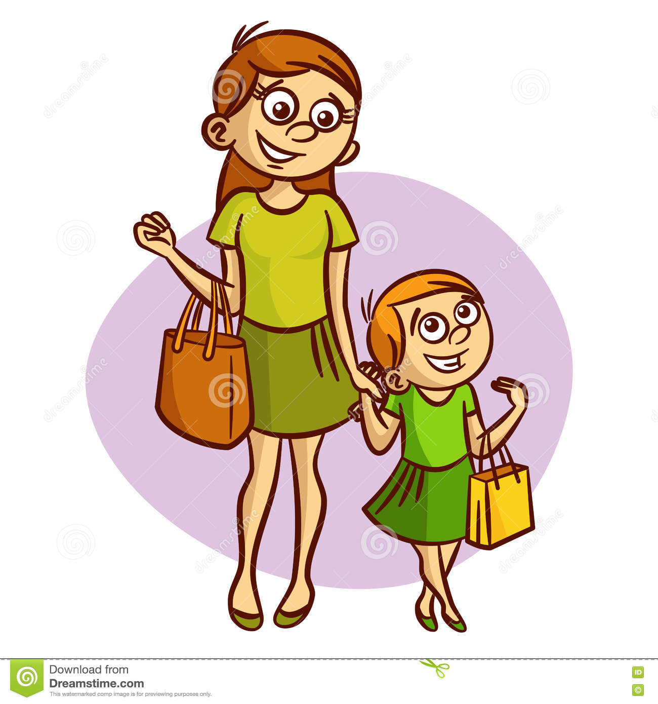 Cartoon clipart mother and daughter shoppi ng clip transparent Collection of Daughter clipart | Free download best Daughter clipart ... clip transparent