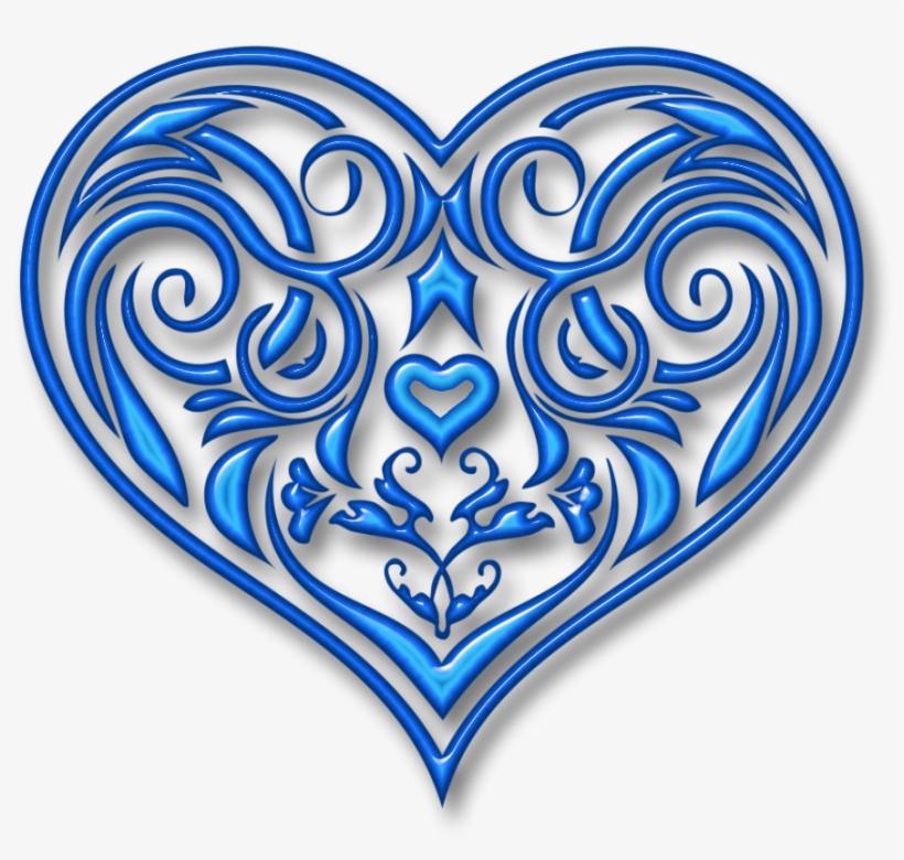Best fancy interlocking swirl clipart for free png image library Swirl Heart Clipart - Fancy Blue Heart PNG Image   Transparent PNG ... image library