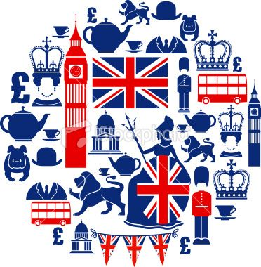 Best free clipart of britain banner transparent A set of British themed icons. See below for a repeat pattern ... banner transparent