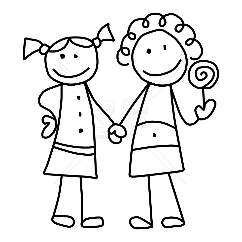 Best friend clipart black and white clip black and white Friends Clipart Black And White & Look At Clip Art Images - ClipartLook clip black and white