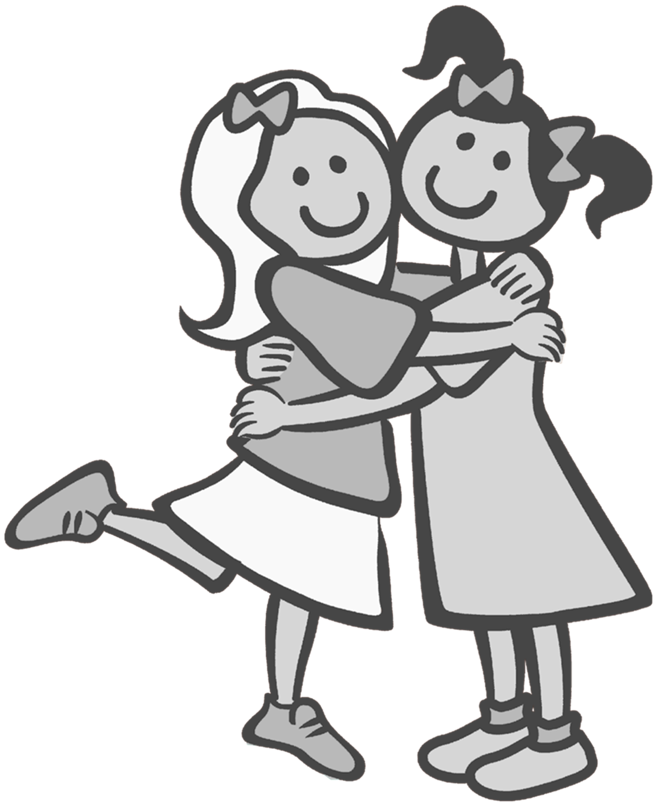 Best friend clipart black and white jpg black and white library friends clip art black and white - Google Search | clip art | Bff ... jpg black and white library