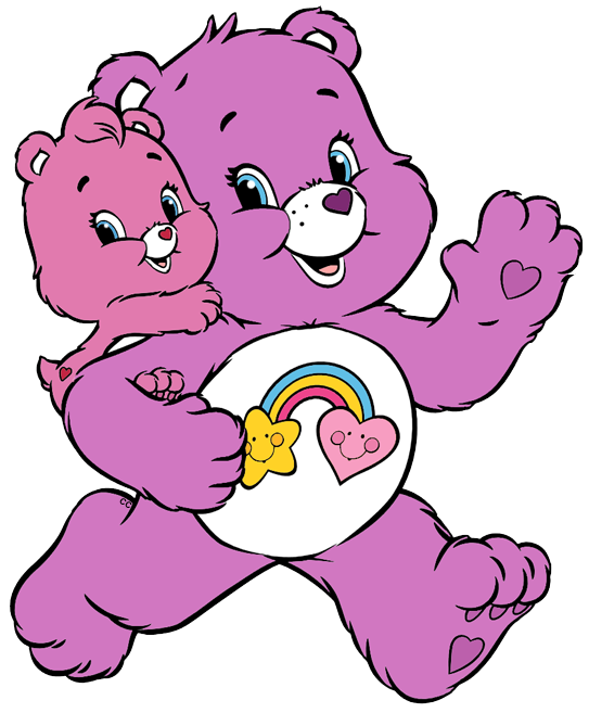 Best friend heart clipart image Care Bears and Cousins Clip Art | Cartoon Clip Art image