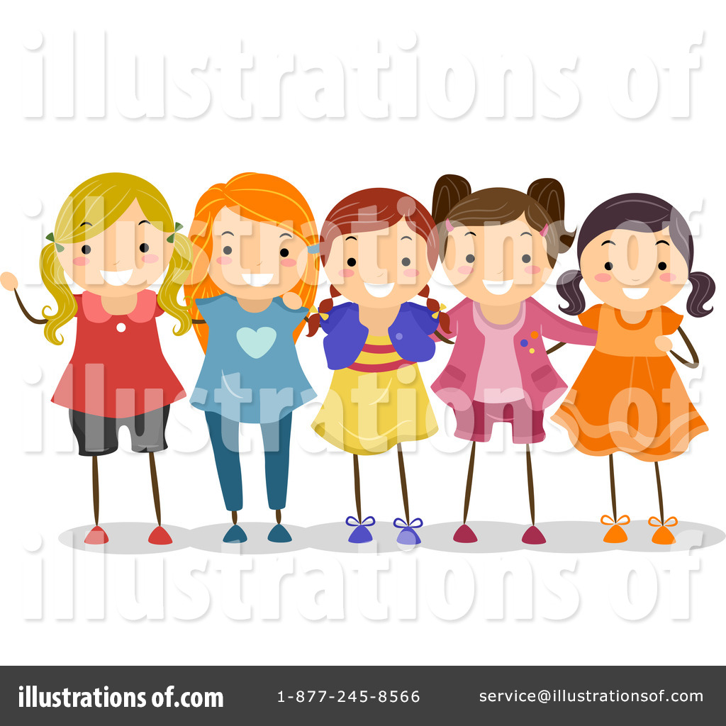 Best friends clipart royalty free image black and white download Friends Clipart #1122748 - Illustration by BNP Design Studio image black and white download