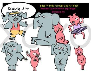 Best friends forever images clipart svg transparent Best Friends Forever Clipart Pack svg transparent