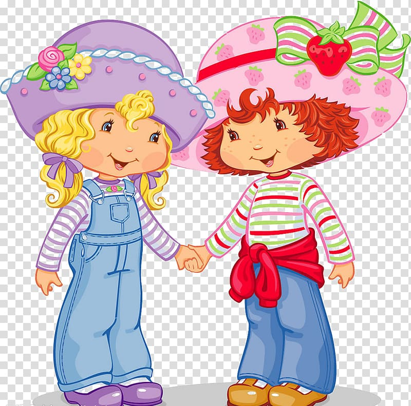 Best friends holding hands clipart clip art library Strawberry Shortcake characters , Friendship Day National Best ... clip art library