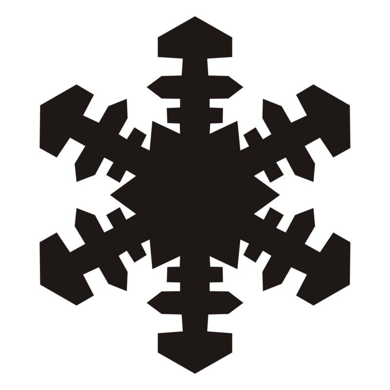 Black and white christmas snowflake clipart picture transparent stock FREE Snowflake Clipart Images & Photos Download【2018】 picture transparent stock
