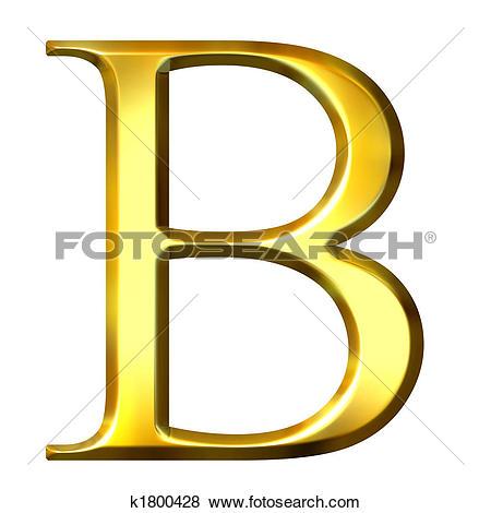 Beta greek letter clipart clip art library Stock Illustration of 3D Golden Greek Letter Beta k1800428 ... clip art library